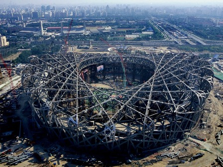 Beijing bird 39 s nest national olympics stadium design and for The bird s nest stadium