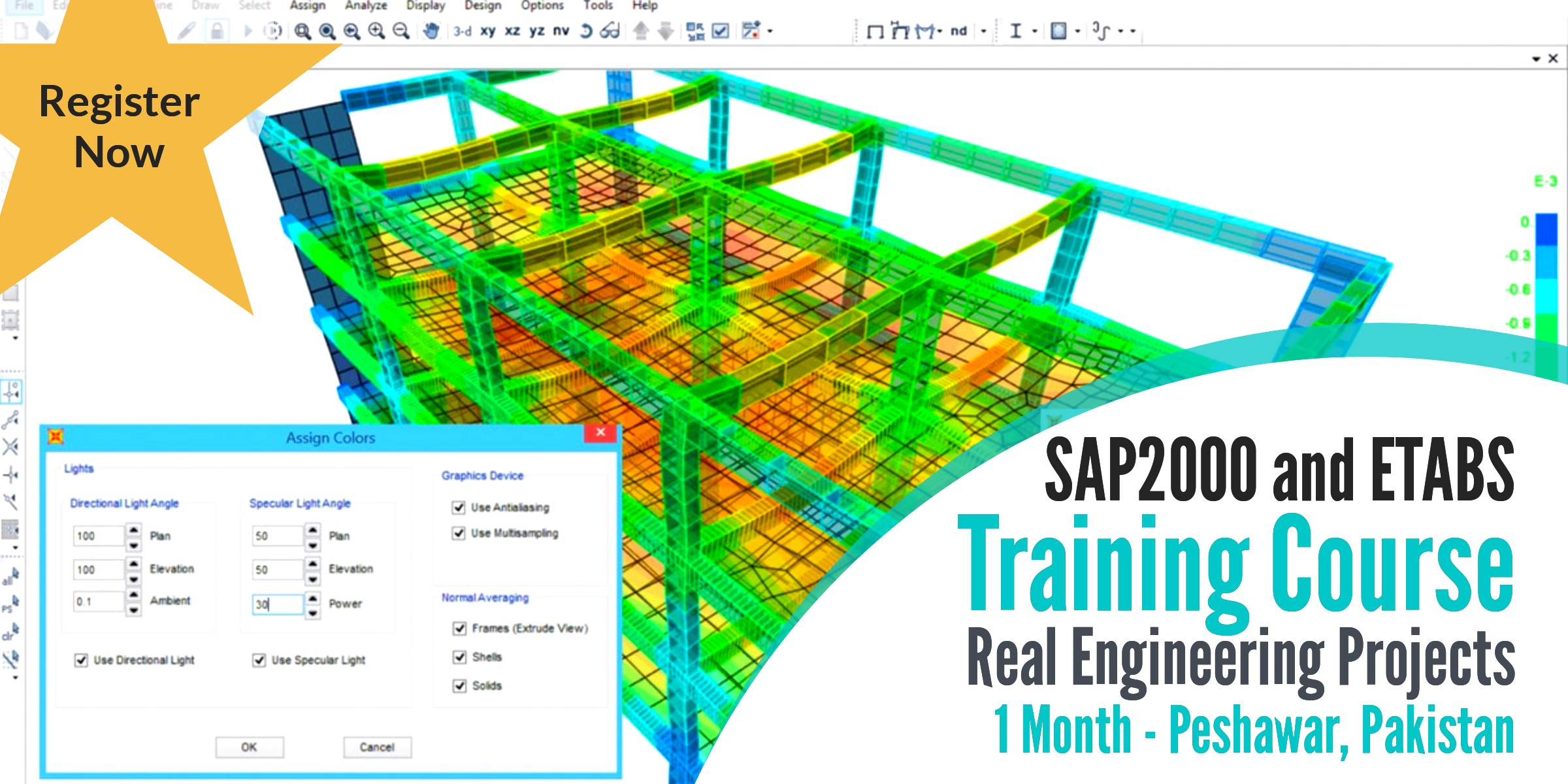 SAP 2000 and ETABS Training Course on Realworld Civil Engineering