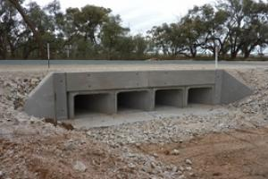 Boxed Culvert below Road