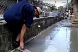 Video on Methods of Finishing Concrete