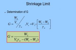 Shrinkage Limit of Soil